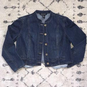 Baccini // Crop Denim Jacket // sz M